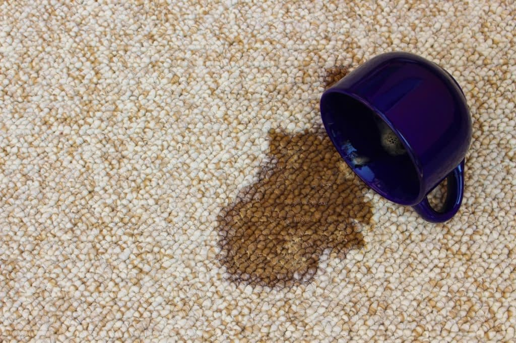 stain on the carpet